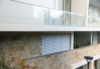external venetian blinds projects, external aluminium blinds, external venetian blinds showroom, external venetian blinds austin