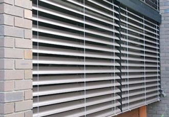 external venetian blinds projects, external aluminium blinds, external venetian blinds showroom, external venetian blinds austin,